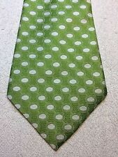 Vintage Sears Mens Tie 5 X 57 Green With White, Made In England