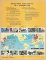USA #2697 U/A SOUVENIR PAGE FDC SvSht  1992  World War II Souvenier Sheet
