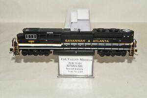 N scale Fox Valley Models EMD SD70ACe locomotive NS heritage Savannah & Atlanta