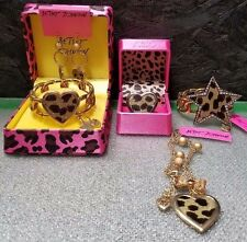 Betsey Johnson Authentic Leopard Jewelry (5 pcs), New