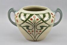 x6b26- Jugendstil Keramik Henkel-/ Bowle Topf, um 1900/20