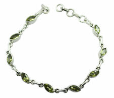 Green 925 Sterling Silver genuine delicate Peridot wholesale Bracelet AU