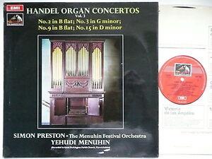 SIMON PRESTON PLAYS HANDEL ORGAN CONCERTOS MFO MENUHIN EMI ASD 2534