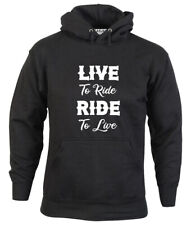 Biker Hoodie Live to Ride, Ride to Live Unisex Motorcycle Clothing S-2XL