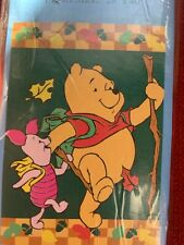 """New listing New Disney Outdoor Flag 28""""x 40"""" Winnie The Pooh Piglet Fall Autumn Large Flag"""