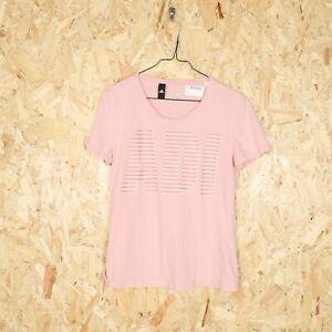 Women's ADIDAS Big Logo T Shirt Pink | Medium M