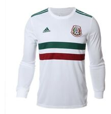 JERSEY  SHIRT ADIDAS MEXICO LONG SLEEVE  AWAY WHITE  SOCCER MENS