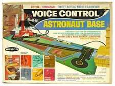 Vintage 1969 Remco Astronaut Mission Control Rocket Space Base w/Sound Box Works