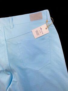 Peter Millar Crown Sport EB66 Five Pocket Natural Stretch Trouser Pant Blue $150