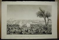 Bovinet Di Ap Sdraiato Fili Battaglia Heliopolis Incisione c1815 Napoleone