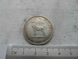 1934 Southern Rhodesia 2/- two Shilling coin VGC Silver