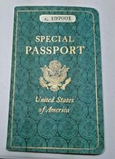US Special Passport Marine Corps Official Business Diplomatic Military Vintage