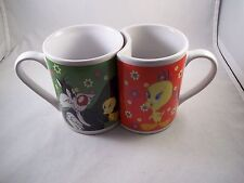 Set of Two Tweety Pie and Sylvester Mugs in Box
