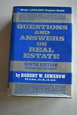 HARDBACK BOOK Question & Answer's on Real Estate, Revised 9th edition,  Semenow