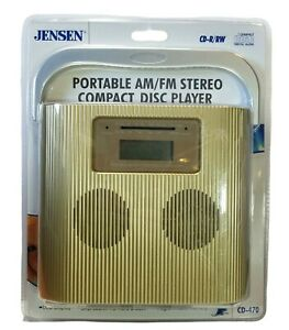 Jensen Portable AM/FM Stereo Compact Disc Player Cd-R/RW CD-470 LCD Display