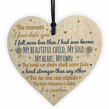 Mummy to Be Birthday Christmas Gift Wooden Heart Baby Shower From Bump Gifts