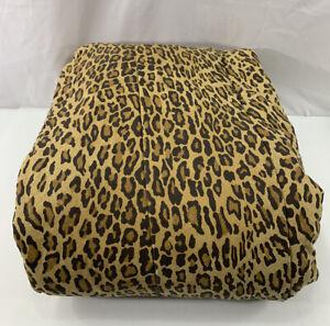 Ralph Lauren Aragon Leopard Cheetah Twin Comforter Cotton Blue Label