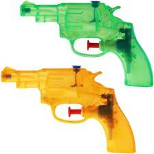 2x Wasserpistole Wasser-Pistole Spritzpistole Kanone Transparent Revolver 13 cm