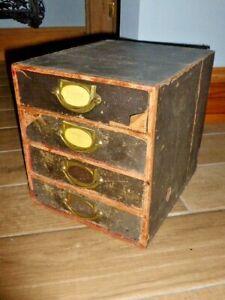Rare Antique Stones 'Popular Series' Desk Top Filing Cabinet, c1890, As Found