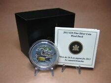 2013 $10 Fine Silver Coin - Wood Duck