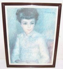 Gravure Reproduction encadrée, Renoir 79, Jeune Femme