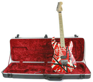 EVH Striped Series Frankenstein  Electric Guitar - Red/Black/White with Case