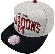 Mitchell & Ness Montreal Maroons Ally eu406 SnapBack cap gorra basecap mens New
