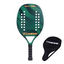 New listing BeachTennis Racket Carbon Fiber Grit Face with EVA Memory Foam CoreTennis Racket