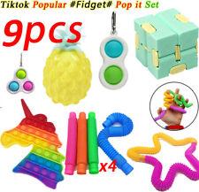 9Pack Fidget Sensory Toys Zappeln Spielzeug Set Stressabbau ADHS Simple Dimple
