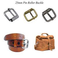 25mm Metal Roller Pin Square Belt Buckle Heavy Duty Leather Handbag Shoe Strap