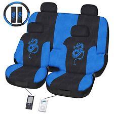 Dragon Blue  Car Seat Cover Set Universal Fit