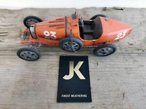 CMC 1:18 Bugatti T35 unique / Unikat / one-of  /  finish line Jochen Kieslich