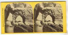 STEREOVIEW - NATURAL CAVES , FRESHWATER ISLE OF WIGHT BY F HUDSON