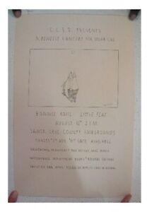 Little Feat Bonnie Raitt Poster 1  Benefit Concert Solar Cal Santa Cruz 1978