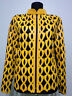 Yellow Leather Jacket for Woman Coat Women Zipper Short Collar All Size Light D5