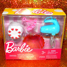 Barbie Bakeware Accessories baking hand mixer cake heart measuring spoons bowl