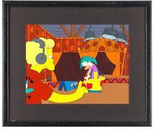 Simpsons Cel Production Background 16-field Animation key OBG Krusty art