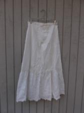 Early 1900s Antique Vintage Slip Long Petticoat Cotton Lace Discoloration