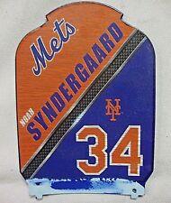 New York Mets Noah Syndergaard #34 Orange Black Blue Metal Shield Shaped Plate