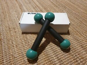2 x Zumba Green Fitness Toning Sticks 30 cm / 450 grams