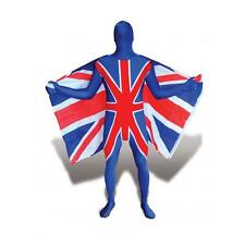 MERONCOURT Union Jack Adult Cosplay Costume Morphsuit, Large, Multi-Colour MFUNL