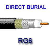 Belden RG-6 Burial Coax Cable - 25ft Length ( 28W101)