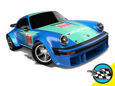 Hot Wheels Cars - Porsche 934 Turbo RSR Falcen Blue