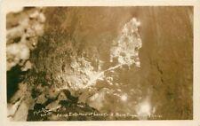 Bend Oregon  Inside Entrance Lava Cave 1940s Photo Art RPPC real photo 2490