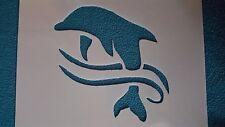 Schablone 904 Delfine Wandtattoo Möbel Wandbilder Airbrush Wanddekoration Mylar