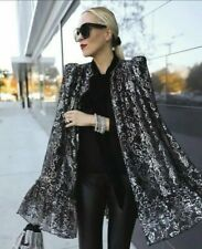 H&M THE VAMPIRE'S WIFE LACE CAPE BLACK METALLIC SIZE XS-S BLOGGERS NEW WITH TAGS