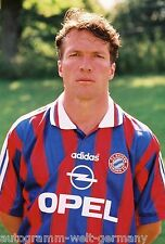 Lothar Matthäus Bayern München 1996-97 seltenes Foto+2