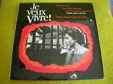 LP BO OST JE VEUX VIVRE-JOHNNY MANDEL-I want to live-FRENCH PRESS FELP 202