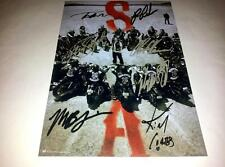 """SONS OF ANARCHY CASTX7 PP SIGNED 12""""X8"""" POSTER CHARLIE HUNNAM RON PEARLMAN SOA 4"""