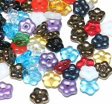 G1428 Assorted Color Mixed 5mm Daisy Flower Rondelle Czech Glass Beads 100pc